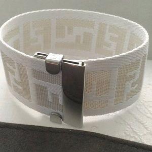 Fendi FF monogram logo bracelet cuff